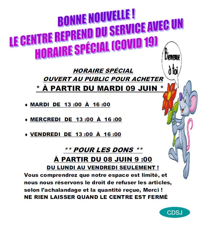 Horaire Du Centre De Depannage St Janvier
